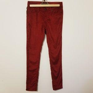 Rock & Republic Skinny Berlin red corduroy pants